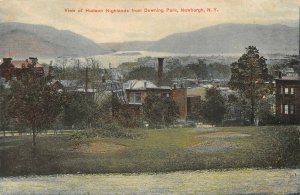 LPS53 Newburgh New York Hudson Highlands from Downing Park Vintage Postcard