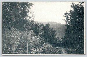 Reading Pennsylvania~Two Dead-Ends of the Gravity Railroad~Mt Penn~C1905 UDB B&W