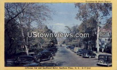 Jefferson Inn And Southland Hotel Southern Pines Nc 1947