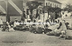 angola, LUANDA LOANDA, Indian Women selling on the Market (1910s)