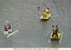 Raft Race , Klondike Days , Edmonton , Alberta ,  Canada , 50-70s