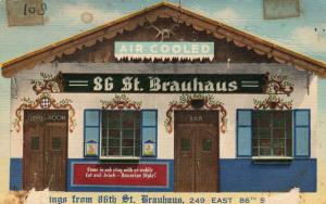 USA Greetings from 86th st Brauhaus 249 east 86th street New York 01.57