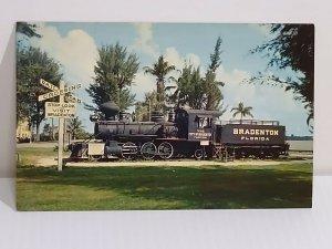Locomotive City of Bradenton Florida wood burning train Waterfront Park Unposted