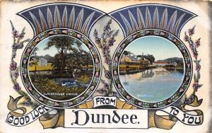 Good Luck Greetings! from Dundee, Claverhouse Castle, Thistle, Souvenir