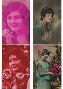 LADIES FEMMES ROMANTIC GLAMOUR 1000 REAL PHOTO CPA (Part 1.) (L2957)