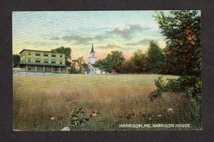 ME Vintage 1908 view Harrison House in Harrison Maine Postcard Carte Postlale
