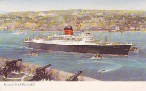 Cunard R.M.S. Carinthia, tug boats, cannons, 00-10s