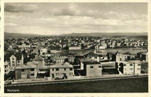 iceland, REYKJAVIK, Panorama (1930s) RPPC Postcard