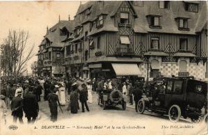 CPA DEAUVILLE - Normandy Hotel et la rue Gontant-Biron (515710)