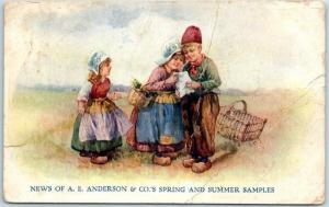 1910s Seed Advertising Postcard A.E. Anderson & Co.'s Spring & Summer Samples