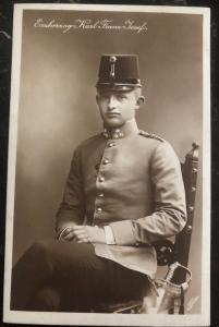 Mint Austria Real Picture Postcard RPPC Erzhezog Karl Frank Josef 1900s MXE