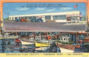 San Francisco California~Exposition Fish Grotto~Fisherman's Wharf~1938 Art Deco