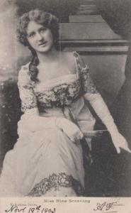 Miss Nina Sevening Antique Postcard
