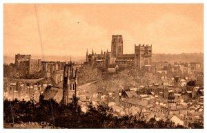 England , Aerial view of Durham City