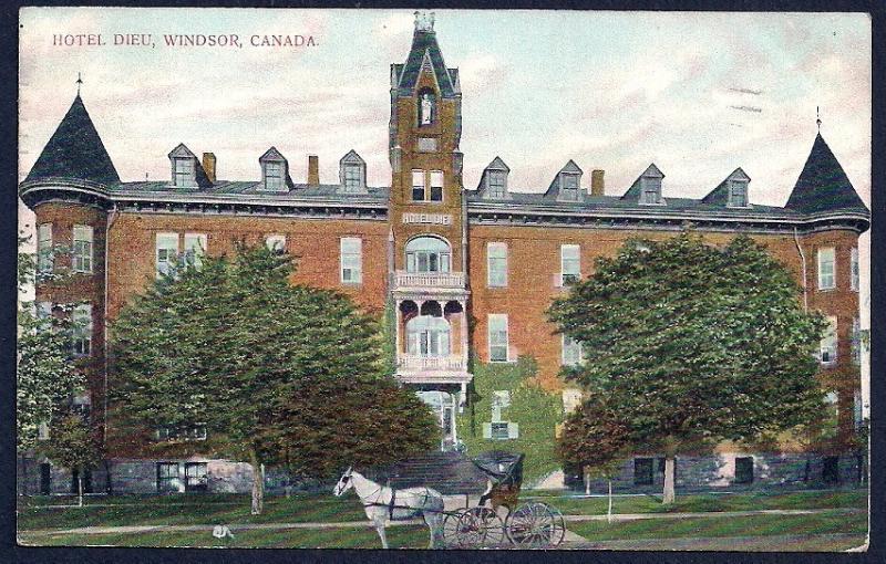 Hotel Dieu Windsor Ontario Canada used c1907