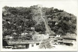 brazil, SANTOS, Monte Serrat, Funicular (1930s) RPPC