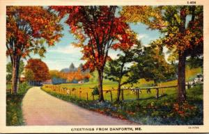 Maine Greetings From Danforth Curteich