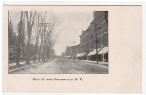 Main Street Scene Gouverneur New York 1907c postcard