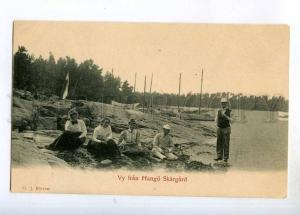 247513 FINLAND view from Hanko Skarsgard Vintage postcard