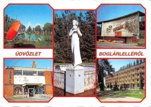 Hungary Udvozlet Boglarlellerol, statue monument, pool multiviews