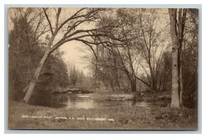 Vintage 1900's Photo Postcard Contoocook River Antrim New Hampshire