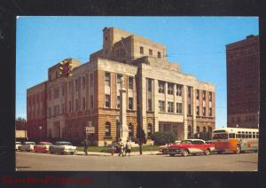 MERIDIAN MISSISSIPPI LAUDERDALE COUNTY COURT HOUSE OLD CARS VINTAGE POSTCARD