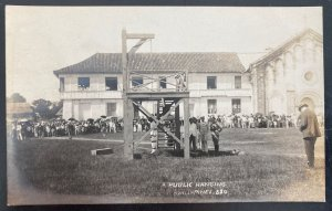 Mint Philippines Real Picture Postcard RPPC A Public Hanging