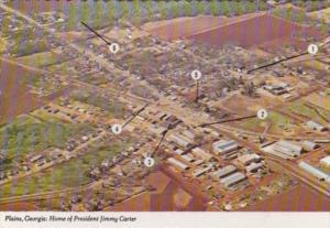 Georgia Plains Aerial View Showing Baptist Church & More
