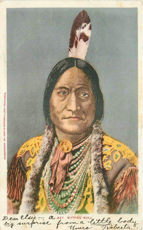 Artist Impression C-1905 Native American Indian Chief Mitchell undivided 2203