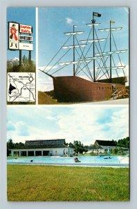 Kissimmee FL, Captain Kidd's Rec Vee Resort Campground, Florida c1960 Postcard