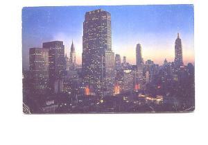 Night on Midtown Manhattan, New York City, Used 1962
