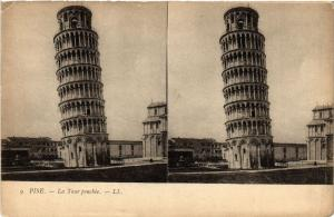 CPA PISA La tour penchee LL. Stereo. ITALY (468186)