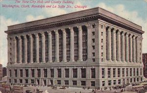 Illinois Chicago The New City Halt And County Building Washington Clark Rando...