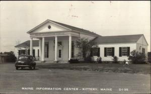 Kittery ME Information Center Real Photo Postcard