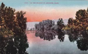 ST. JOE RIVER, Idaho, 1900-10s; On the shadowy side