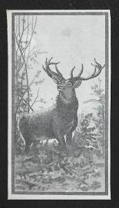 VICTORIAN TRADE CARD Buck with Antlers