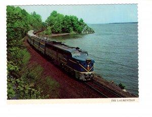 The Laurentian, Railway Train, Lake Champlain, Port Henry, New York,