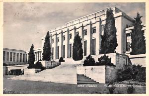 Switzerland Old Vintage Antique Post Card Geneve Palais des Nations Unies Pos...