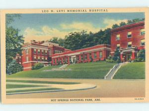 Linen HOSPITAL SCENE Hot Springs National Park Arkansas AR W3126