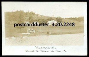 dc360 - CHENEVILLE Quebec 1958 Lac Simon Camps Gabriel Pilon Real Photo Postcard