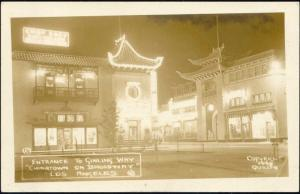 Los Angeles, Cal., Chinatown, Ginling Way (1940s) RPPC