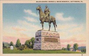 Major General Georgie G Meade Memorial Gettysburg Pennsylvania