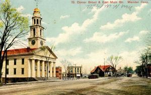 CT - Meriden.  Corner of Broad & East Main Streets