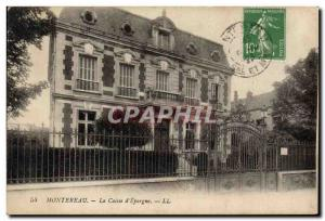 Old Postcard Montereau Bank Caisse d & # 39Epargne
