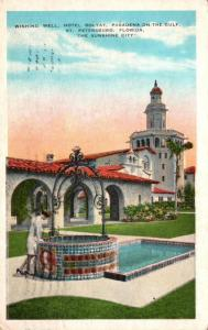 Florida St Petersburg Pasadena On The Gulf Hotel Rolyat Wishing Well 1934