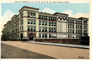 CT - New Haven - General Offices of New York, New Haven & Hartford Railroad