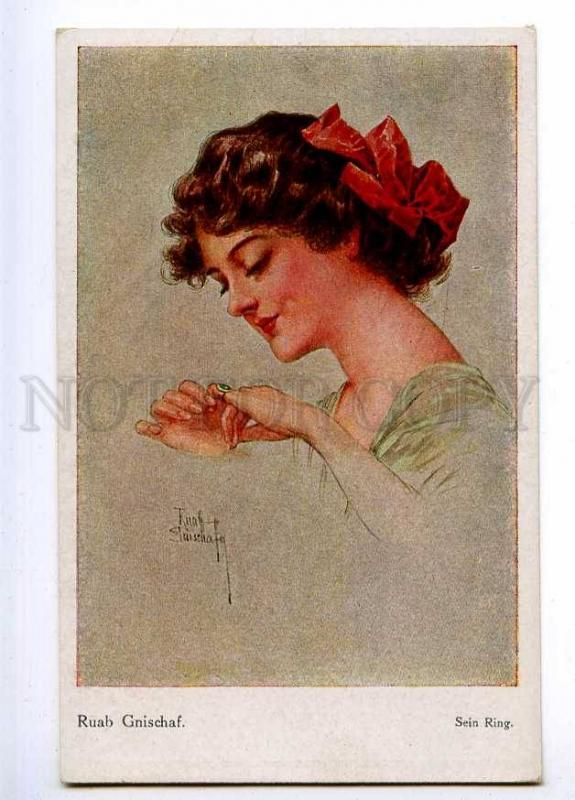 189693 BELLE Woman w/ Ring by Ruab GNISCHAF Vintage SVD PC