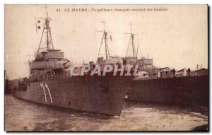 Le Havre - Outgoing French Destroyers pools - Old Postcard
