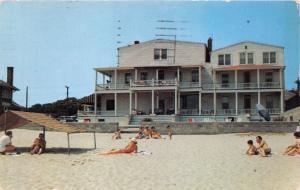 NORFOLK VIRGINIA ATLANTIC HOTEL~EAST OCEAN VIEW AVE~CHESAPEAKE BAY POSTCARD 1955