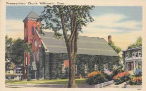 Exterior, Congregational Church,  Willimantic,  Connecticut,  30-40s